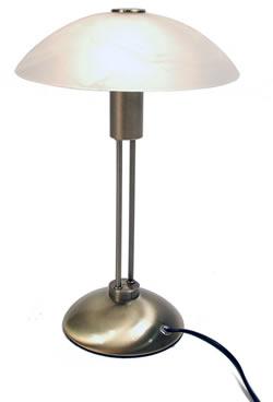 petite lampe, repose sur un pied en metal, idéal pour mettre dans un coin pour permettre de lire plus facilement ou déclarer de temps en temps